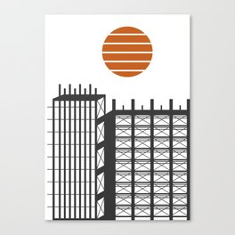 City in construction Canvas Print