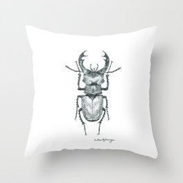 dotted buggy 1 Throw Pillow