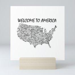 Welcome to America Guns Map Mini Art Print