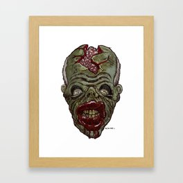 Heads of the Living Dead Zombies: Crack Head Zombie Framed Art Print