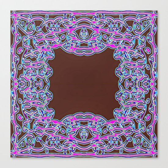 In The Pink Colorfoil Bandanna Canvas Print