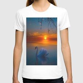 Swimming Swans on the Lake T-shirt