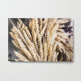 Grain Wreath Metal Print