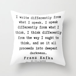 6  | Franz Kafka Quotes | 190909 Throw Pillow