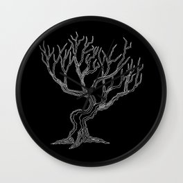 Tree 03 Inverse, One Liner Wall Clock