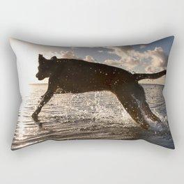 Jumping with joy. Rectangular Pillow