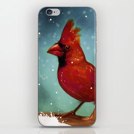 Cardinal snow iPhone Skin