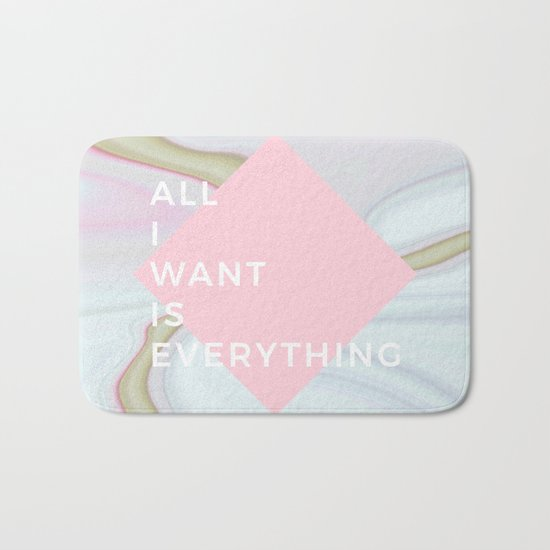 All I Want Is Everything - Rose Marble Bath Mat