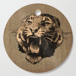 Vintage Tiger Cutting Board