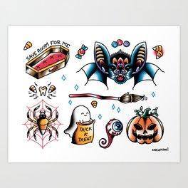 Halloween Flash Sheet Art Print