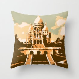 Sacré Coeur Montmartre Paris Throw Pillow