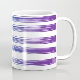 Drawn Lines Blue to Purple Ombre Coffee Mug