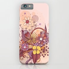 Zentangle, summer rose pink, purple doodle iPhone 6s Slim Case