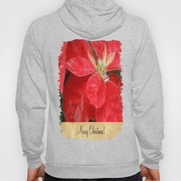 Mottled Red Poinsettia 1 Ephemeral Merry Christmas S2F1 Hoody