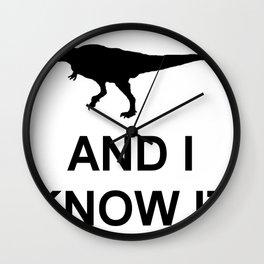 Extinct T-Rex Wall Clock