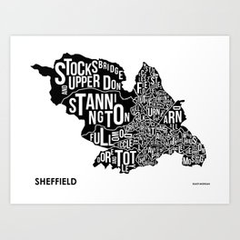 The Wards of Sheffield Art Print