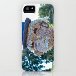 The Lost Gardens of Heligan - Diggory the Scarecrow's Face iPhone Case