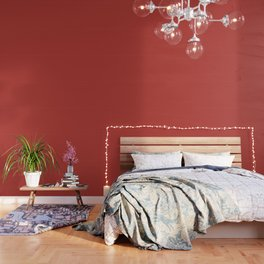 PANTONE 18-1550 Aurora Red Wallpaper
