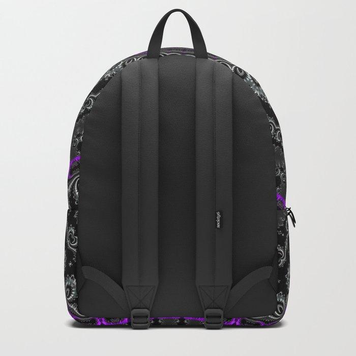 Black White and Purple Mandala Backpack