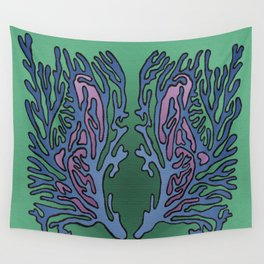 Coral Pattern - Alpine Colour Scheme Wall Tapestry
