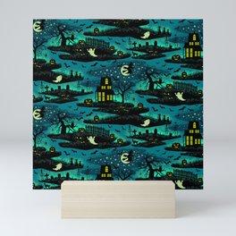 Halloween Night - Fox Fire Green Mini Art Print
