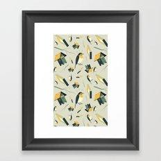 Flying Birdhouse (Pattern) Framed Art Print