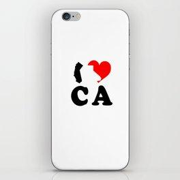 I Love CA iPhone Skin