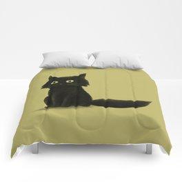 Sitting Cat Comforters