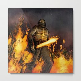 Surt the Fire Giant Metal Print