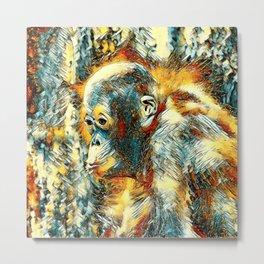AnimalArt_OrangUtan_20180204_by_JAMColors Metal Print