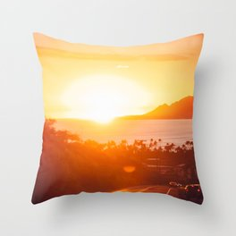 Hawaii Kai Sunset Throw Pillow