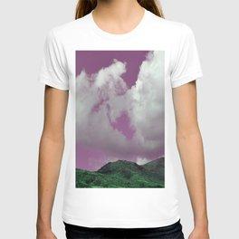 emerald hills purple skies T-shirt