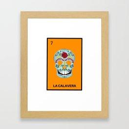 La Calavera Mexican Loteria Bingo Card Framed Art Print