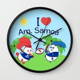 Ernest & Coraline | I love American Samoa Wall Clock