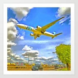 Airliner Pop Art Art Print