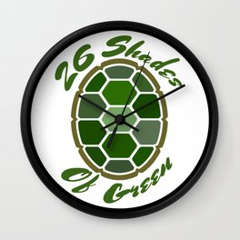 26ShadesofGreen Logo Wall Clock
