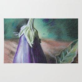 "Pastel Drawing ""Elegant Eggplant"" Rug"