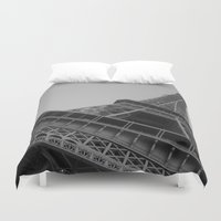 eiffel tower Duvet Covers featuring Eiffel Tower by Riaora Creations