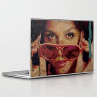 bianca green Laptop & iPad Skins featuring Bianca by Yuri Torres Bertazolli