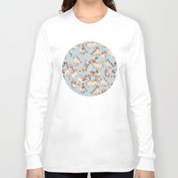 puppies Long Sleeve T-shirts featuring Too Many Puppies by micklyn