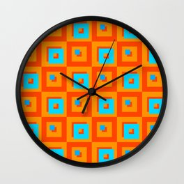 Square Psychedelia Wall Clock
