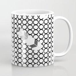 Embossedfeathersblackhollowcircles Coffee Mug