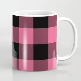 Pink & Black Buffalo Plaid Coffee Mug