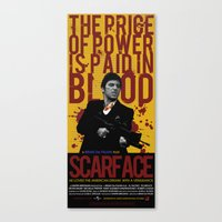 scarface Canvas Prints featuring Scarface by Arinesart