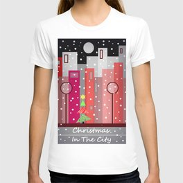 City Christmas Snowfall T-shirt