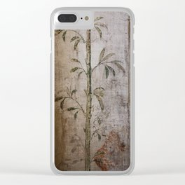 Antique wall painting Clear iPhone Case