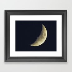 Sunset Crescent Framed Art Print