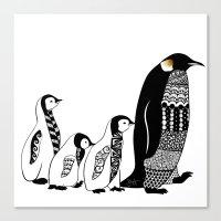 penguins Canvas Prints featuring Penguins by Sophie H.