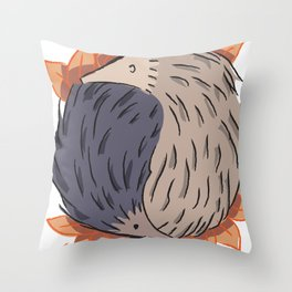 Hedgehog Yin Yang Throw Pillow