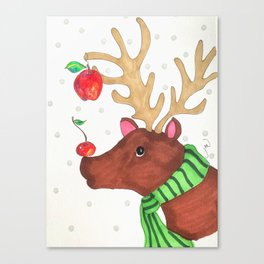 Wishing Rudolf  Canvas Print